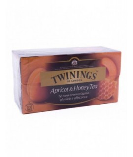 Twinings Apricot & Honey Tea Miscela di Tè Nero aromatizzato al Miele e Albicocca 25 Bustine
