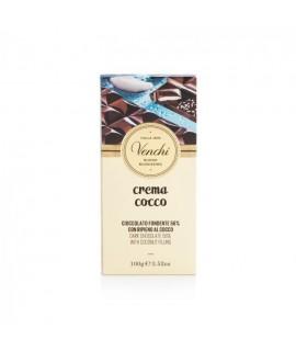Venchi Tavoletta di cioccolato fondente al cocco 100g