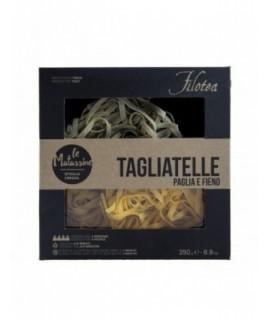 """Pasta Filetta  Tagliatelle Paglia e Fieno """"le Matasse"""" Sfoglia Grezza 250 g"""